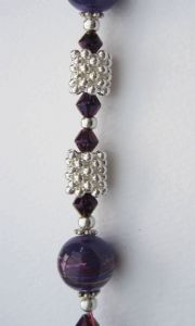 Cross Over Necklace & Earring Kit - Purple
